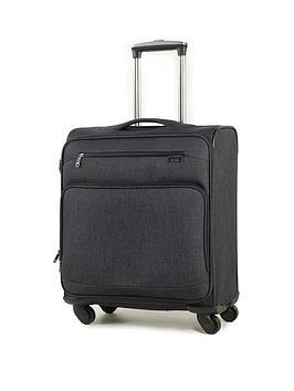 rock-luggage-madison-carry-on-4-wheel-suitcase-black