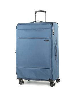rock-luggage-deluxe-lite-large-8-wheel-suitcase-teal