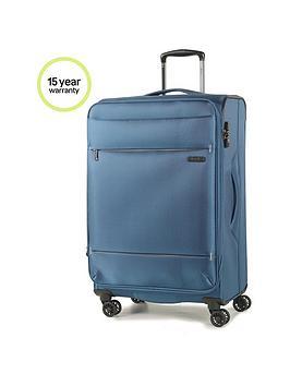 rock-luggage-deluxe-lite-medium-8-wheel-suitcase-teal