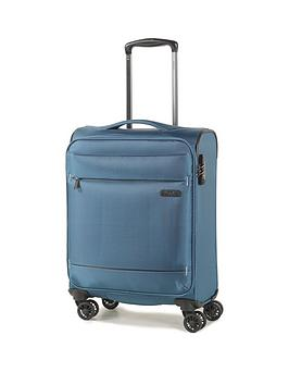 rock-luggage-deluxe-lite-carry-on-8-wheel-suitcase-teal