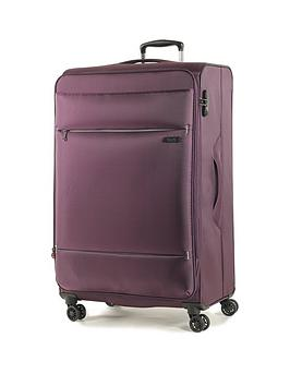 rock-luggage-deluxe-lite-large-8-wheel-suitcase-purple