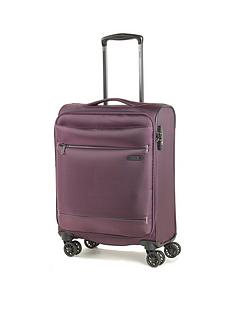 rock-luggage-deluxe-lite-carry-on-8-wheel-suitcase-purple