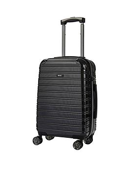 rock-luggage-chicago-carry-on-8-wheel-suitcase-black