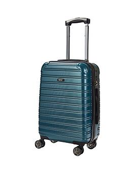 rock-luggage-chicago-carry-on-8-wheel-suitcase-green