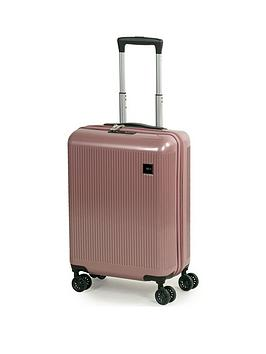 rock-luggage-windsor-carry-on-8-wheel-suitcase-rose-pink