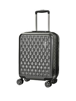 rock-luggage-allure-carry-on-8-wheel-suitcase-charcoal