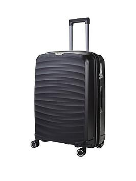 rock-luggage-sunwave-large-8-wheel-suitcase-black