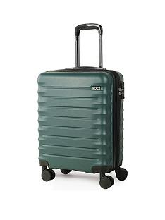 rock-luggage-synergy-carry-on-8-wheel-suitcase-forest-green