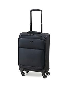 rock-luggage-ever-lite-carry-on-4-wheel-suitcase-black