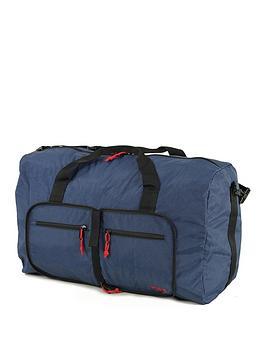 Rock Luggage Small Foldaway Holdall - Navy