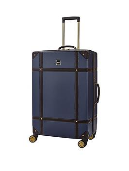 rock-luggage-vintage-large-8-wheel-suitcase-navy