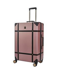 rock-luggage-vintage-large-8-wheel-suitcase-rose-pink