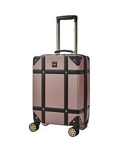 rock-luggage-vintage-carry-on-8-wheel-suitcase-rose-pink