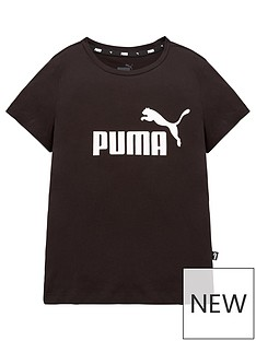 puma-girls-essential-logo-t-shirt-black