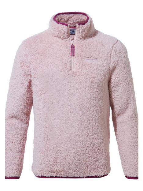 craghoppers-girls-angda-half-zip-fleece-pink