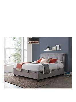 livingstone-ottoman-storagenbspbed-frame-with-mattress-offer-buy-amp-save-grey