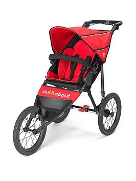 Out N About Nipper Sport V4 Pushchair, Red