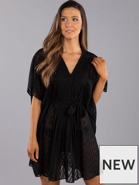 boux-avenue-boux-avenue-textured-pleated-kaftan-black