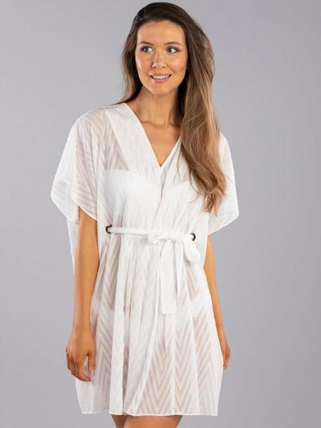 boux-avenue-textured-pleated-kaftan-white