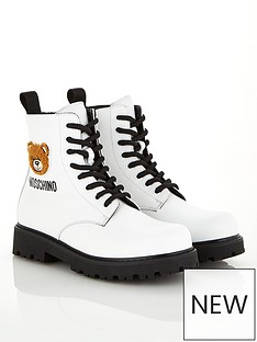 moschino-girls-teddy-logo-lace-up-boots-white