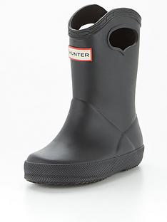 hunter-kids-first-classic-pull-on-wellington-boot-black