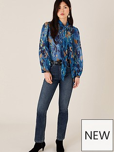 monsoon-anita-animal-print-pussybow-blouse-blue