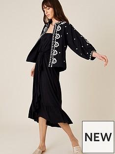 monsoon-monsoon-plain-midi-bandeau-dress