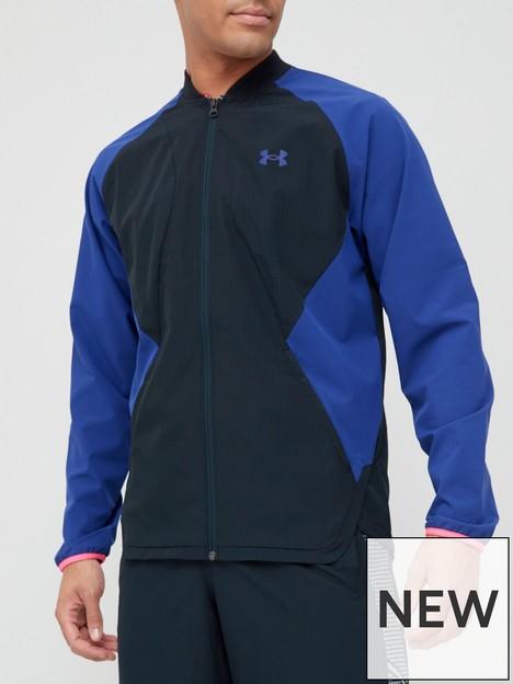 under-armour-training-stretch-woven-bomber-jacket-blackbluenbsp