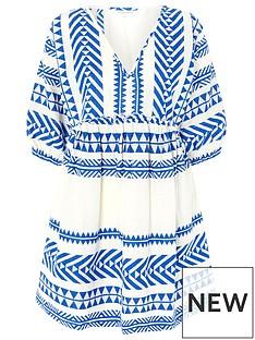 accessorize-jacquard-dress-blue