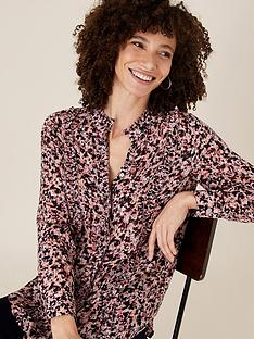 monsoon-printed-ruffle-front-blouse-pink