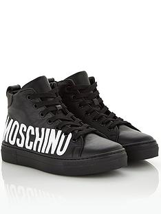moschino-boys-logo-leather-hi-top-trainers--nbspblack