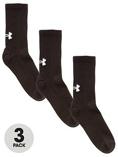 under-armour-core-crew-socks-3-pack-black