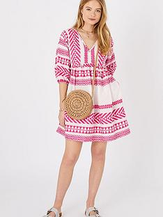 accessorize-jacquard-beach-dress-pink