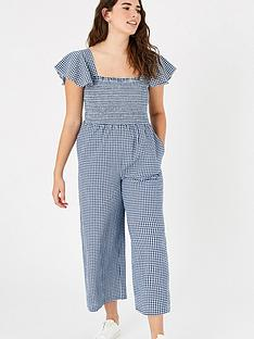 accessorize-gingham-smocked-jumpsuit-navy
