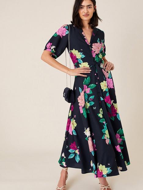 monsoon-una-floral-printed-shirt-dress-navy