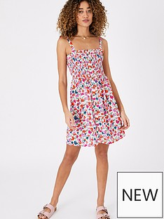 accessorize-floral-bandeau-dress-multi