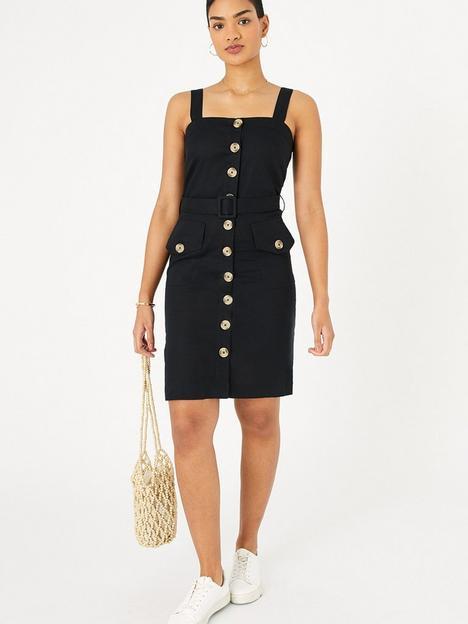 accessorize-button-down-midi-dress-black