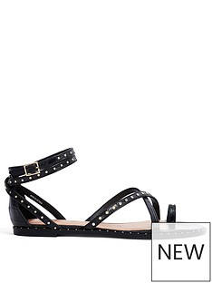 ted-baker-flat-studded-gladiator-sandal-black