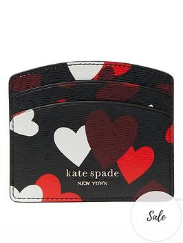 kate-spade-new-york-spencernbsphearts-print-card-holder-black