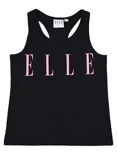 elle-girls-logo-vest-black