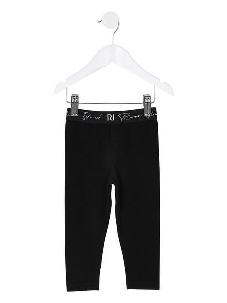 river-island-mini-mini-girls-black-ri-waistband-leggings