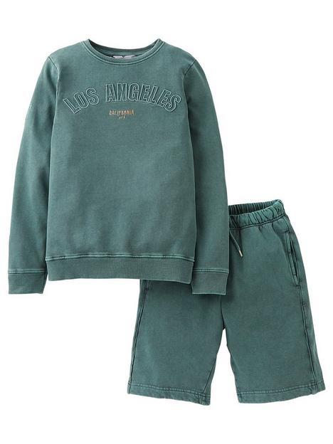 v-by-very-boys-2-piece-la-sweatshirtnbspand-shorts-set-green