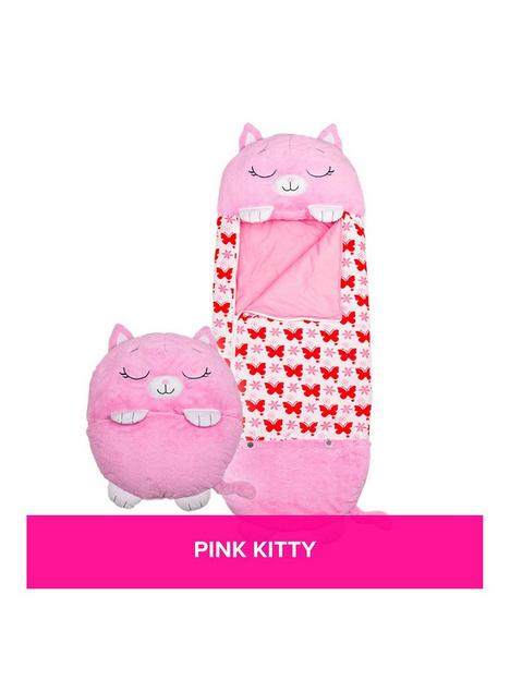 happy-nappers-pink-kitty-sleeping-bag-large