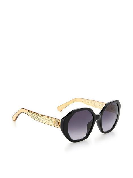 kate-spade-new-york-preslee-hexagonal-sunglasses--nbspblack