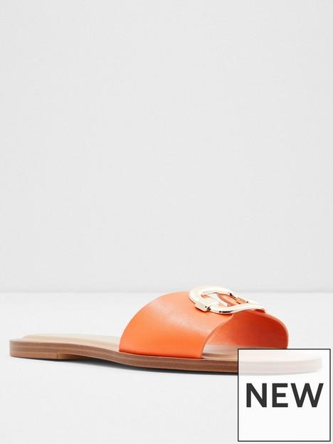 aldo-glaeswen-flat-sandal--nbsporange