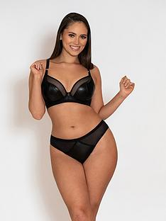 curvy-kate-lucky-star-vegan-leather-meshnbspplungenbspbra-black