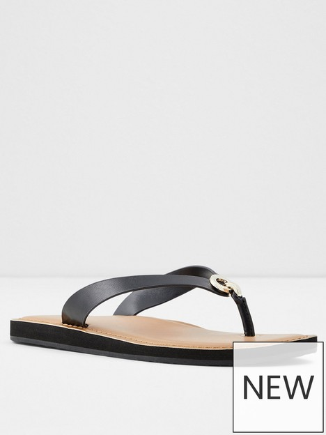aldo-galalelian-flip-flop-black