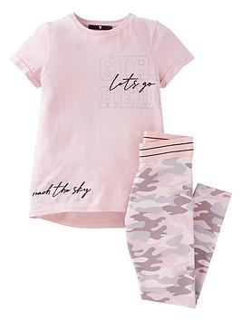 V By Very Girls Active Camo Set