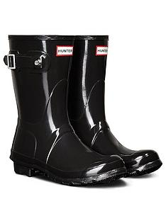 hunter-original-short-gloss-wellington-boot-black