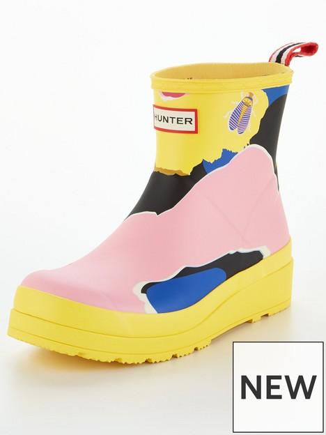 hunter-original-play-flower-camo-print-short-wellington-boot-multi